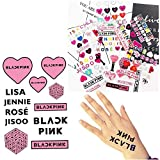 Gifts Set for Blinks - 40Pack Lomo Card, 1 Pcs Neck Lanyard, 6 Pack Button Pins, 2PCS Tattoo Stickers, 1PCS 3D Sticker
