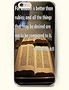iPhone 6 Case,iPhone 6 (4.7) Hard Case **NEW** Case with the Design of For wisdom is better than rubies; and all the things that may be desired are not to be compared to it - Proverbs 8:11 - Case for iPhone iPhone 6 (4.7) (2014) Verizon, AT&T Sprint, T-mobile