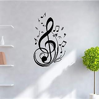 music Nursery Wall Stickers Vinyl Art Decals Kids Room Nature Decor Decoration Accessories Mural 30x49cm
