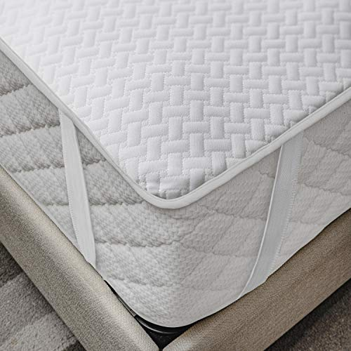 Ambesonne Mattress Protector Breathable Sheet with Straps Fitted Bed Cover, King