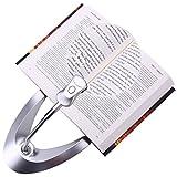 NZQXJXZ Lighted Magnifying Glass Hands-Free Magnifier Large LED illuminated Desktop for Reading, Gooseneck Adjustable 360°