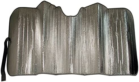 Custom Accessories 17908 25-Inch x 58-Inch Solar Shield Folding Sunshade Silver