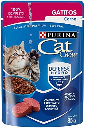 Cat chow defense hydro gato carne alimento húmedo Pack 24 3