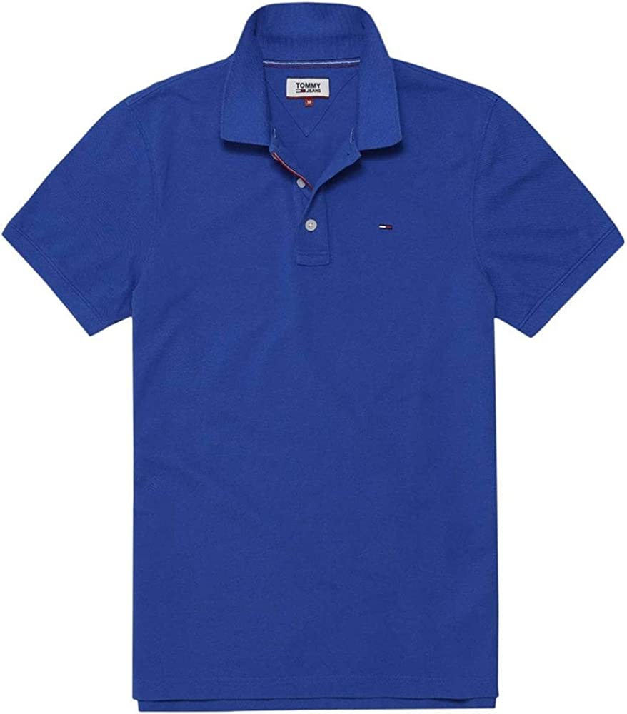 Tommy Hilfiger Dm0Dm00488 Polo MC Homme Bleu: