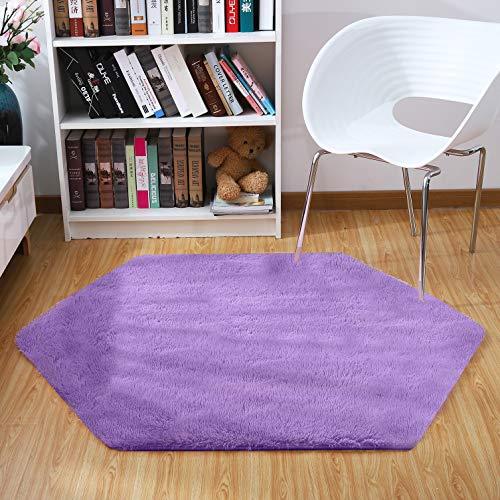 (Junovo Ultra Soft Rug for Nursery Children Room Baby Room Dormitory,Hexagonal Carpet for Playhouse Princess Tent Kids Play Castle,Diameter)