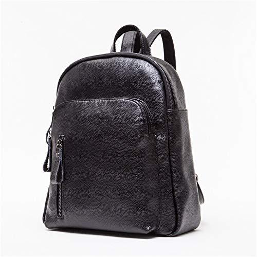 Per Fashion Pu Le Da College Donne Zipper Zaino In Viaggio Bag Black Pelle qCxzqra