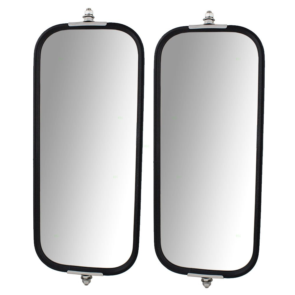 Driver and Passenger Universal West Coast Truck Side Mirror Heads with Sturdy Backs 6.5 x 16 Replacement
