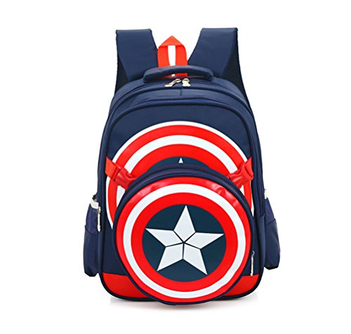 Avengers Captain America School Bags Kids Backpack