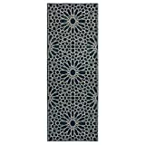 Kitchen Rugs Geometric Ottomanson Authentic Collection Contemporary Geometric Trellis Pattern Design Kitchen Runner Rug, 20