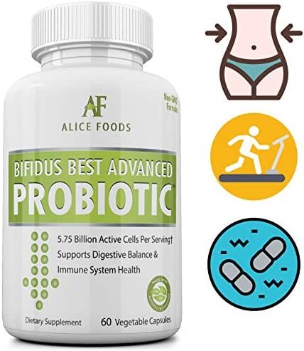 Fast Natural Bloating Relief - Bifidus Best Advanced Probiotic 60 Day + Kombucha Guide - Premium Probiotics For Men and Women - for Intestinal Problems, Bloating, Diarrhea, Gas, Bladder, UTI