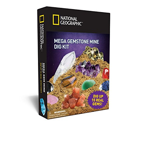 Mega Gemstone Mine Dig Kit by National Geographic