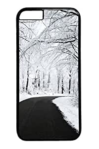 For SamSung Galaxy S6 Phone Case Cover -Forest covered with snow Custom PC Hard For SamSung Galaxy S6 Phone Case Cover Black