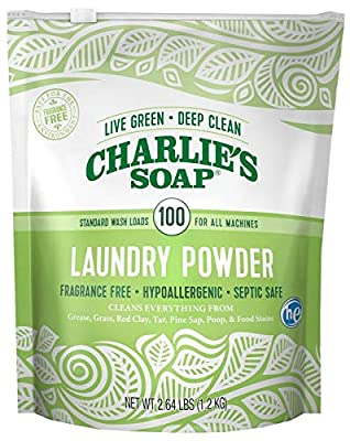 Charlie's Soap – Fragrance Free Powdered Laundry Detergent - 100 Load
