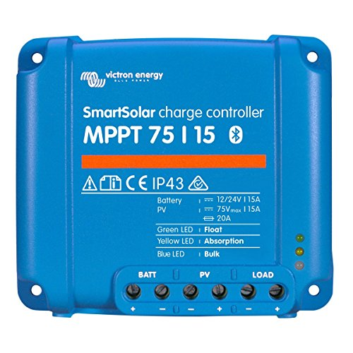 Victron SmartSolar Charge Controller with Built-In Bluetooth – MPPT 75/15 – 75 Volts, 15 Amps by Victron (Image #2)
