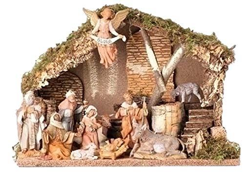 Fontanini Eleven Piece Figurine Set with Italian - Nativity Outdoor Fontanini