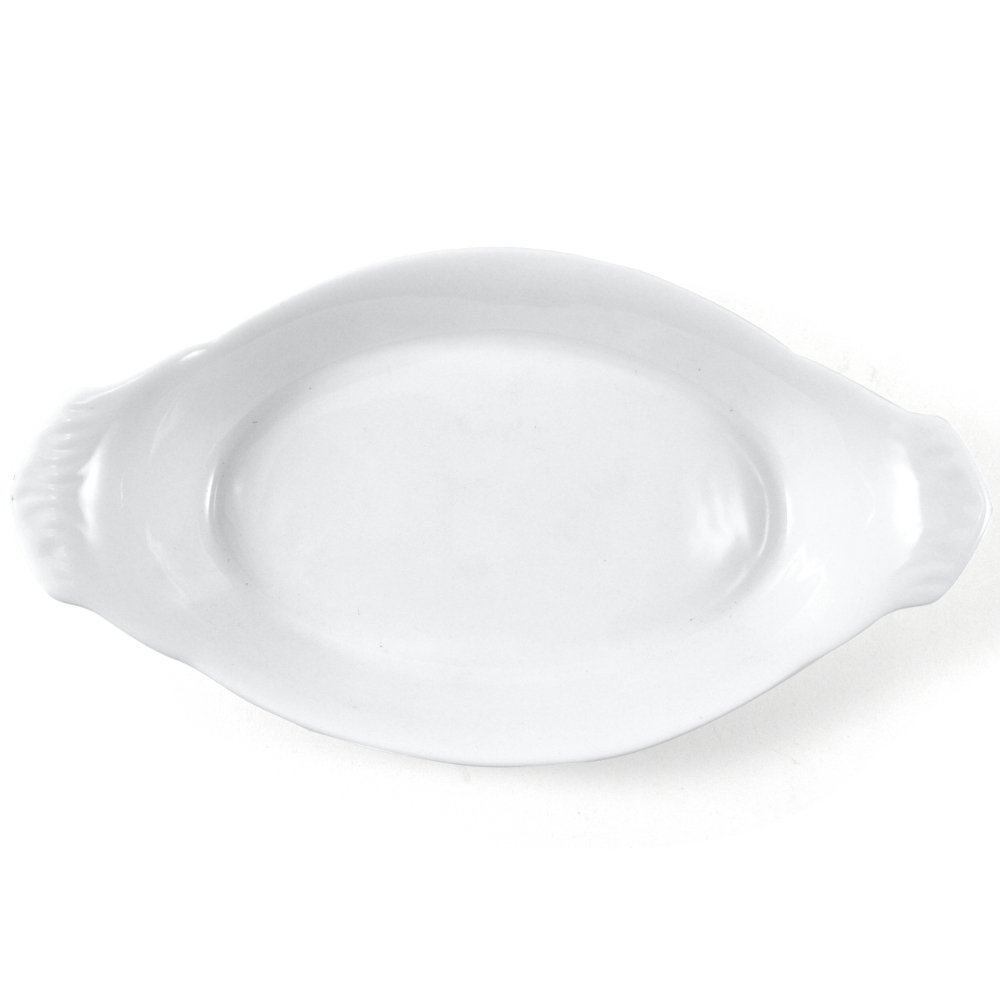 Omniware White Porcelain Au Gratin Dish, 10 Inch by Omniware