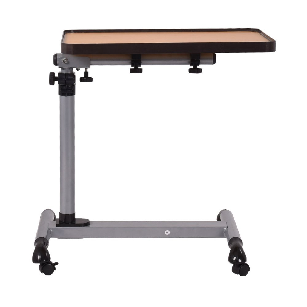 Height Adjustable Laptop Desk Serving Cabinet Rolling Computer Bed Table Writing