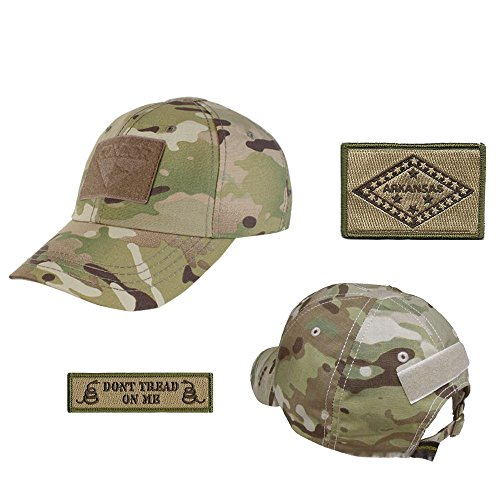 US State Operator Cap Bundle - With State & Dont Tread On Me Patches - Arkansas