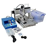 KOHSTAR 4 Axis CNC Router 3040 Soft Metal Drilling Milling Engraving Machine with 800w Spindle Motor and Manual Controller