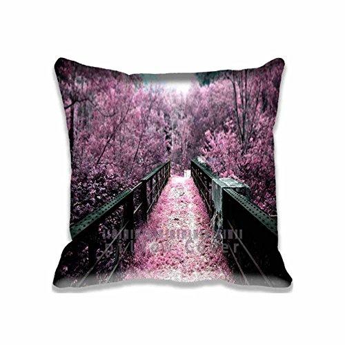 Custom Design Pink Autumn Pillow Cases Zippered , 16x16 Square Seasons Pillowcase - Autumn Cushion Covers Two Size (Angry Birds Season 3 Halloween 2-12)