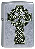 Celtic Irish Green Knot Cross Chrome Zippo Lighter