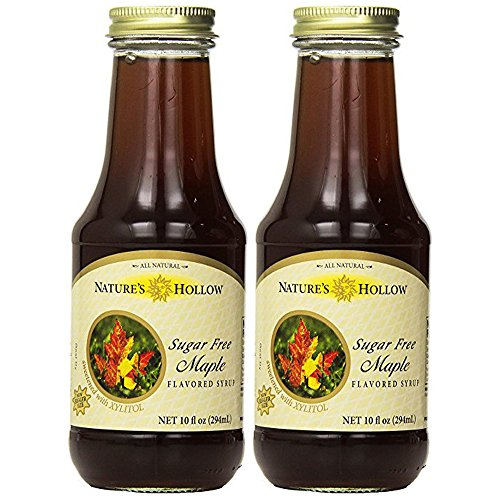 Natures Hollow Sugar-Free Maple Flavored Syrup, 10 Ounce (Pack of ()
