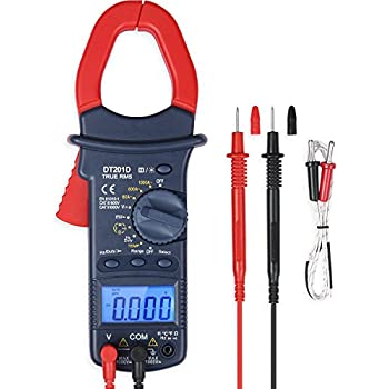AstroAI Digital Clamp Meter, TRMS 6000 Counts Multimeter with Manual and Auto Ranging; Measures Voltage, Current, Resistance, Continuity, Capacitance, Frequency; Tests Diodes, Temperature
