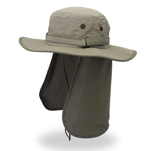 LZRZBH Gorra Protectora para El Sol Sombrero del Cubo con Solapa ...