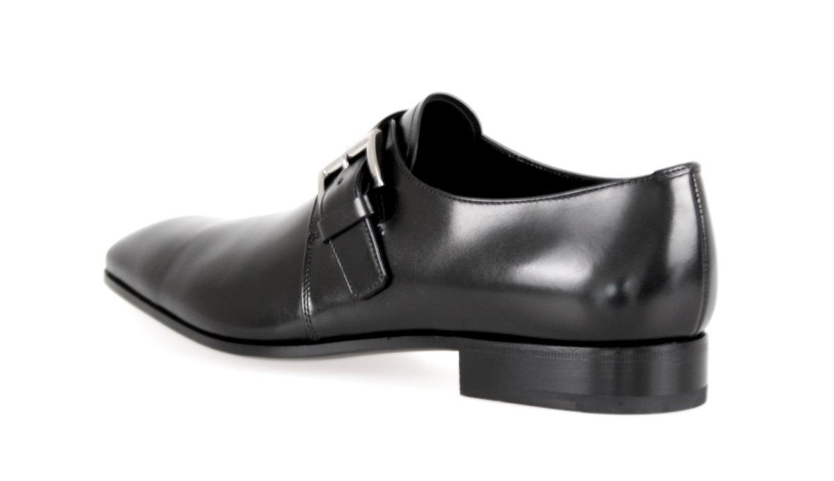 Prada Men's 2OA011 Black Leather Business Shoes EU 9.5 (43,5) / US 10.5 by Prada (Image #4)