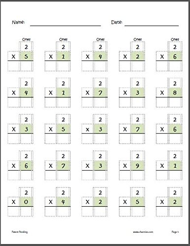 Channie's One Page A Day Single Digit (Beginner) Multiplication Practice Workbook for 2nd-3rd Grades Photo #6