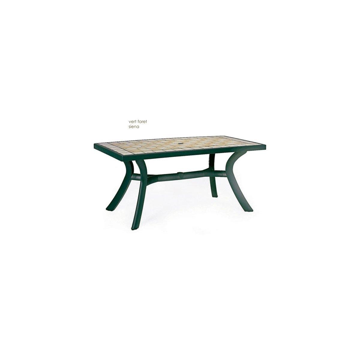 Nardi Table rectangulaire Toscana 160: Amazon.fr: Jardin