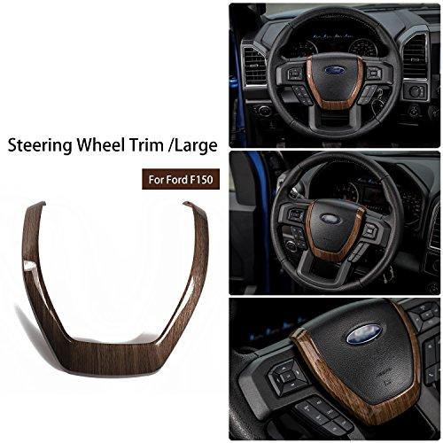 Voodonala Wood Grain Steering Wheel Covers Trim for 2015 2016 2017 Ford F150 F250 F350 Super Duty