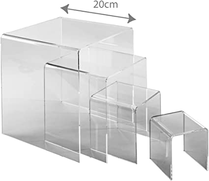 3d muestra tres cara soporte Set (metacrilato expositor): Amazon.es: Oficina y papelería