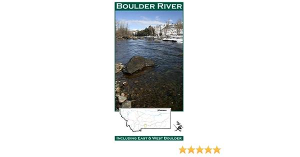 Boulder River 11x17 Flyfishing Map