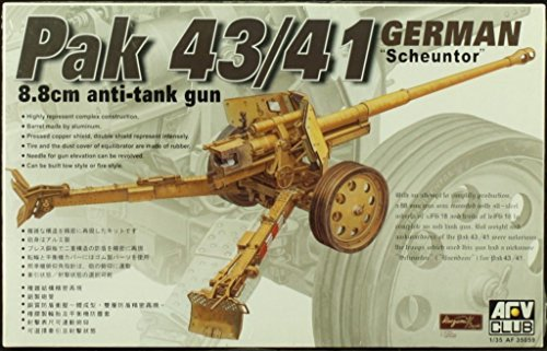 (AFV Club 1:35 German Pak 43/41 8.8cm Anti-Tank Gun Scheuntor Model Kit #AF35059)