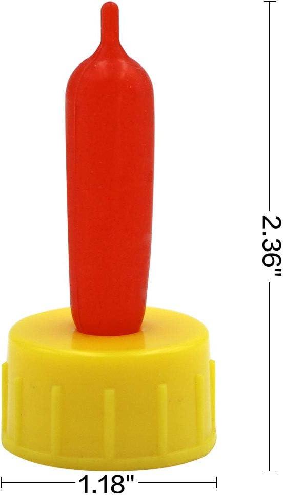 M.Z.A T/étine en Forme de ch/èvre pour Allaitement agneaux et ch/èvre Red+Yellow