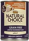Nutro Natural Choice Grain Free Adult - Whitefish & Potato - 12 x 12.5 oz