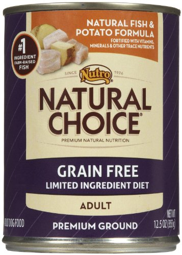 Nutro Natural Choice Grain Free Adult - Whitefish & Potato - 12 x 12.5 oz