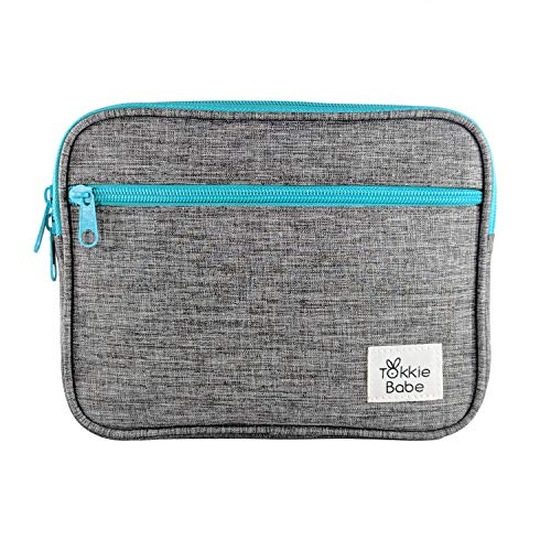 TOKKIE BABE Baby Carrier Extension Storage Pouch - Fit All Essentials for Diapers, Changing Pad, Wipes, Pacifiers, Smart Phones and Wallets Compatible with Ergobaby, Lillebaby, Tula and More ...