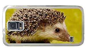 Hipster Samsung Galaxy S5 Case unique covers Cute Hedgehog PC Transparent for Samsung S5