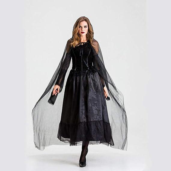 WYZDQ Disfraces de Halloween para Mujeres, Vampiro de Malla Negra ...