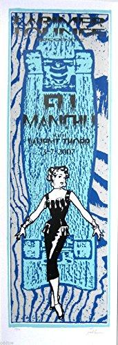 FU MANCHU- Original 2007 Concert Poster S/N Lindsey Kuhn, girl, blue (2007 Concert Poster)
