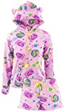 Emme Jordan Juniors Candy Short Hoodie Fleece Pajamas L