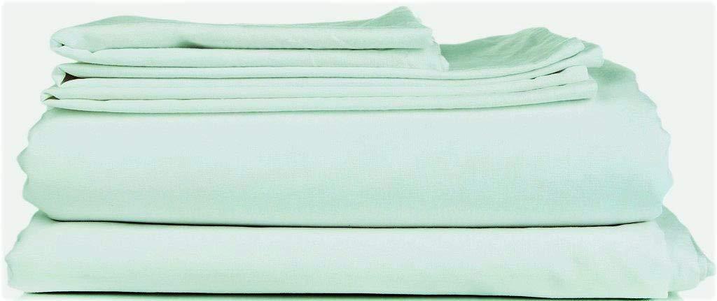 Sea Foam California King True Luxury 1000-Thread-Count 100% Egyptian Cotton Bed Sheets, 5-Pc Split King White Sheet Set, Single Ply Long-Staple Yarns, Sateen Weave, Fits Mattress Upto 18'' Deep Pocket