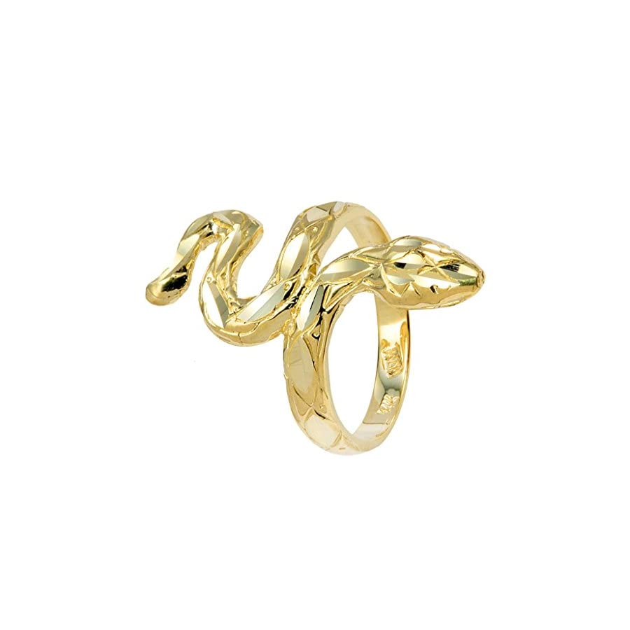 14k Yellow Gold Infinity Band Infinity Band Lucky Snake Ring