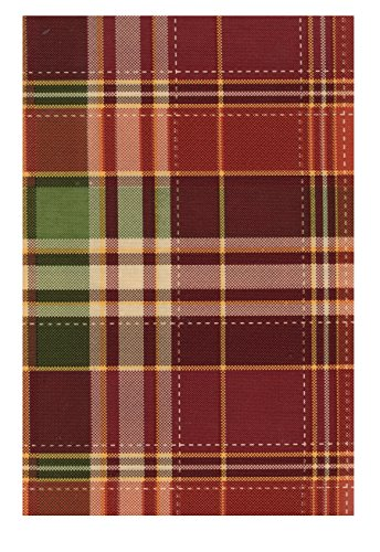 Harvest Plaid Autumn PEVA Vinyl Tablecloth Flannel Backed (52 x 70 Rectangle) ()