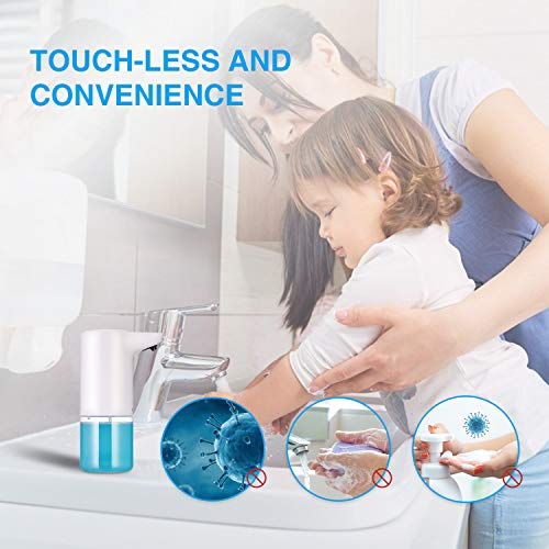 LEPO Automatic Soap Dispenser Touchless Battery Operated Electric Automatic Foaming Soap Dispenser-300ML