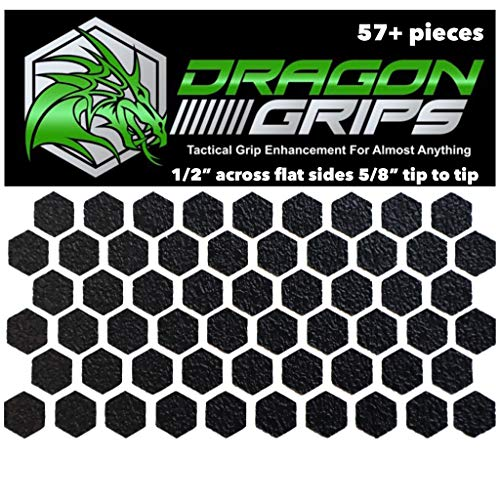 Dragon Grips Hexagon Decal Sticker Set of 57 Pieces 1/2 inch Wide 5/8 Point to Point for Phone Grip Stickers Mouse Laptop case Crafting (Grip Tape For Iphone)