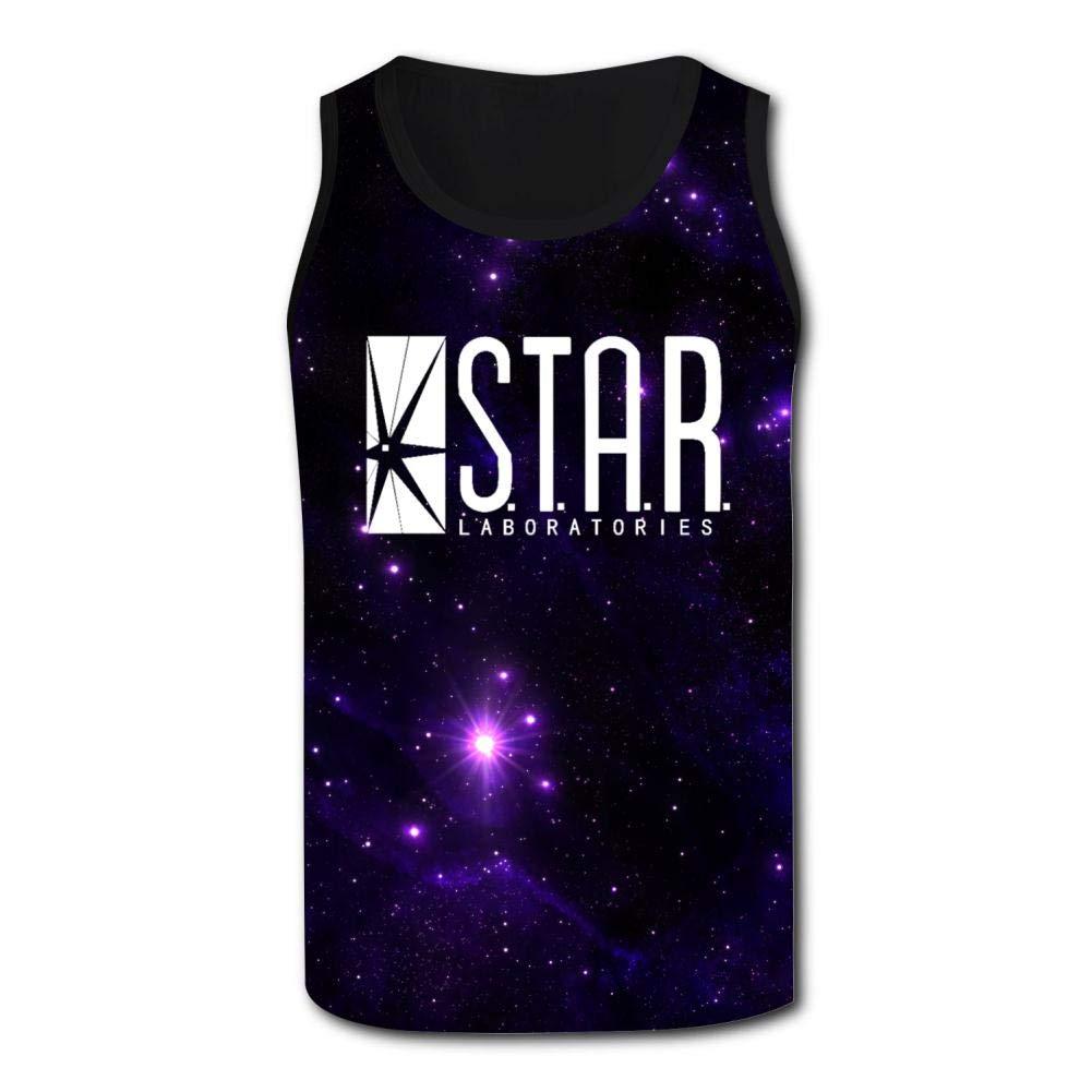 HNkiha Mens 3D Printed Tank Tops Star Laboratories Vest Sleeveless Casual Shirt