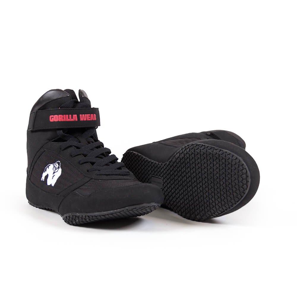 Gorilla Wear High Tops Black schwarz - Bodybuilding und Fitness Schuhe für Damen und Herren